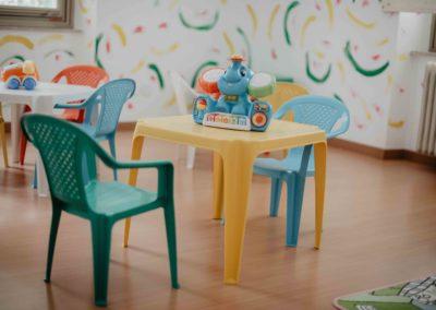Asilo nido Trieste Folli folletti via Ghirlandaio 22 tavolino spazio giochi