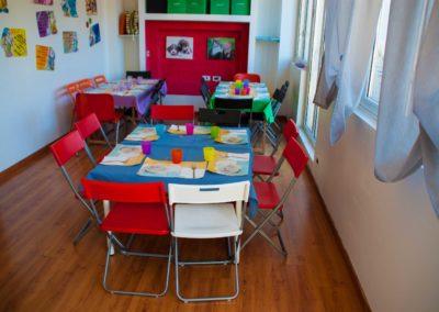 Scuola materna Folli folletti Trieste stanza da pranzo